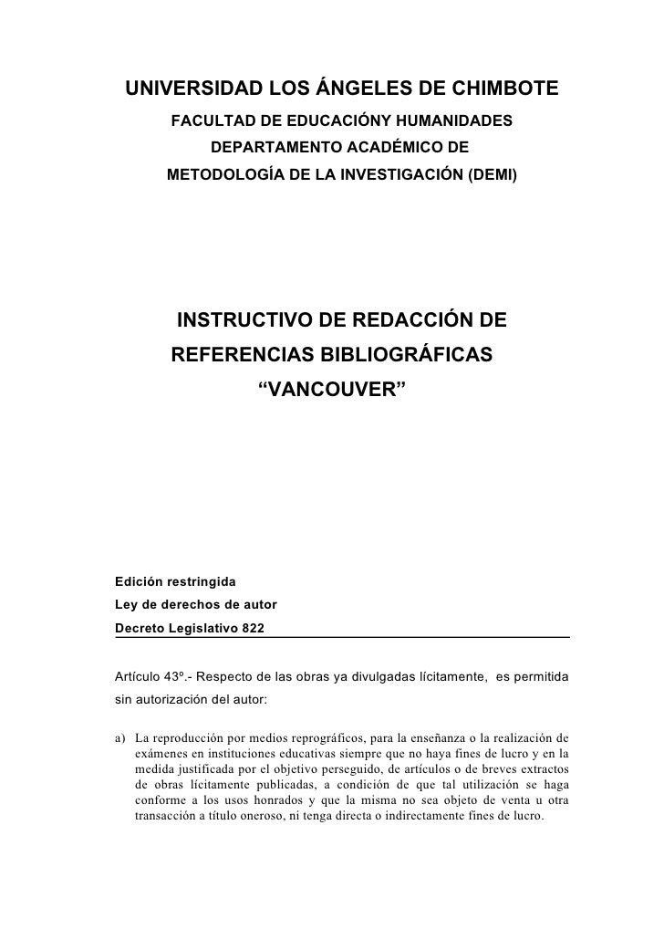 UNIVERSIDAD LOS ÁNGELES DE CHIMBOTE          FACULTAD DE EDUCACIÓNY HUMANIDADES                 DEPARTAMENTO ACADÉMICO DE ...