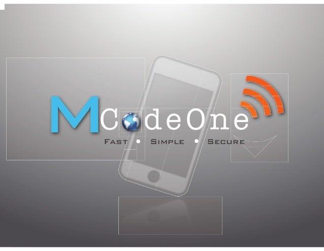 MCodeOne - Mobile Payment Platform