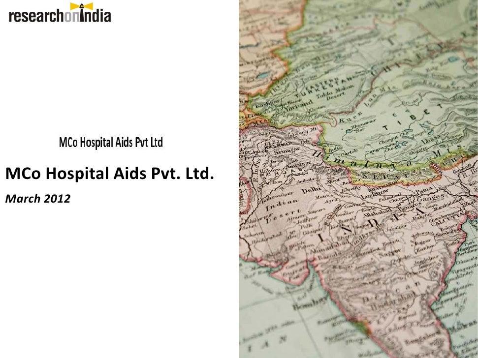 MCo HospitalAidsPvt.Ltd.March 2012