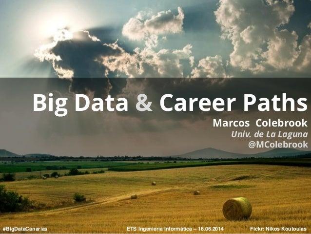 Fickr: Nikos Koutoulas Big Data & Career Paths Marcos Colebrook Univ. de La Laguna @MColebrook ETS Ingeniería Informática ...