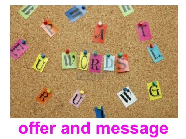 Writing a direct response offer and message