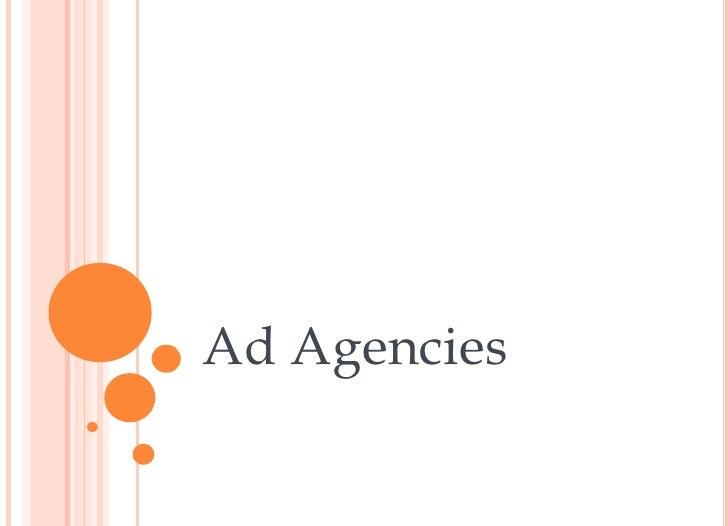 Mcom 341-6 Ad Agencies