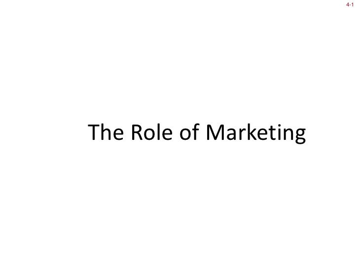 Mcom 341-8 Role of Marketing