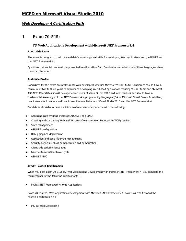 Guide to MCPD - Web Developer 4
