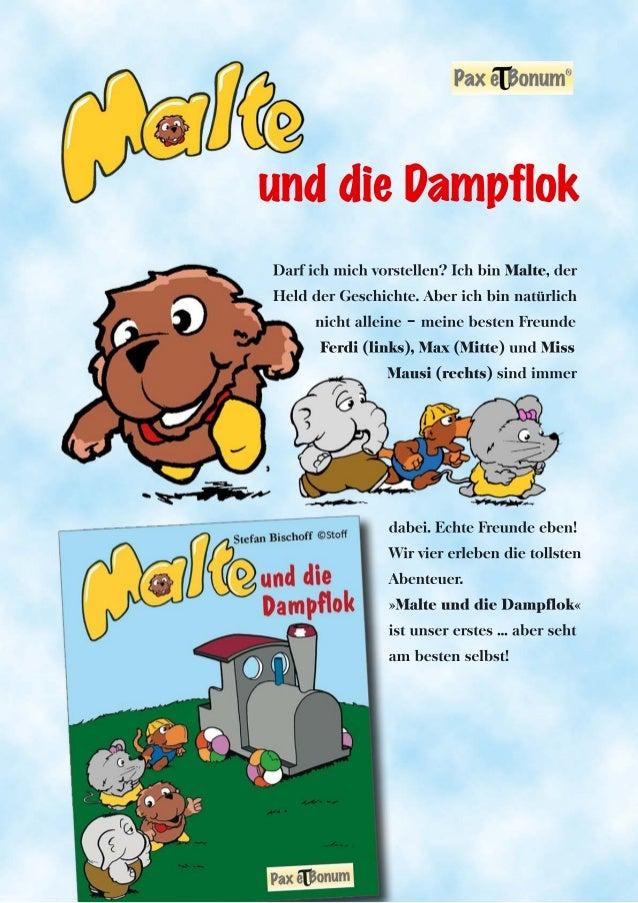 Leseprobe Buch:Malte und die Dampflok bei Pax et Bonum Verlag Berlin
