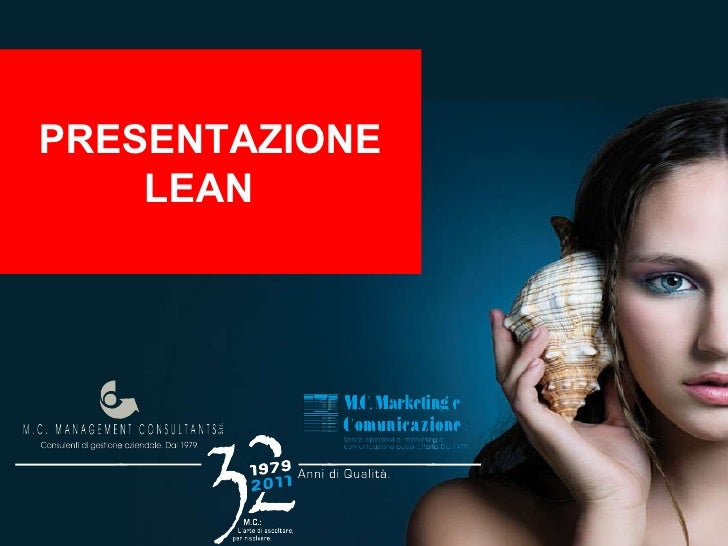 Presentazione lean production / produzione snella
