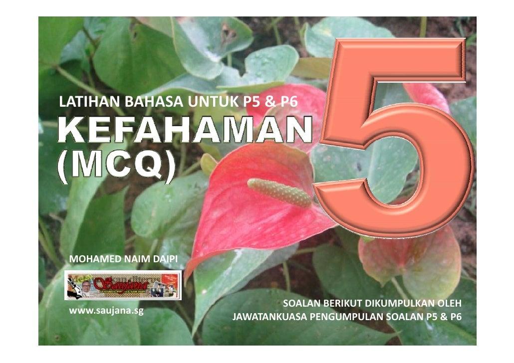LATIHANBAHASAUNTUKP5&P6 LATIHAN BAHASA UNTUK P5 & P6      MOHAMEDNAIMDAIPI                                  SOALAN ...