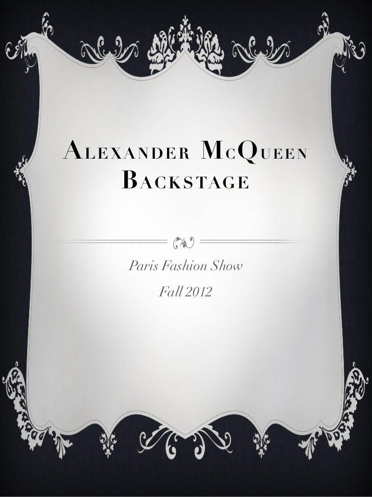 Alexander Mc Queen Fall12