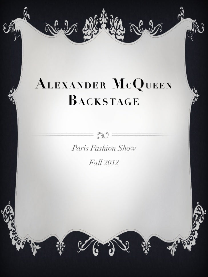 Alexander Mc Queen Fall12
