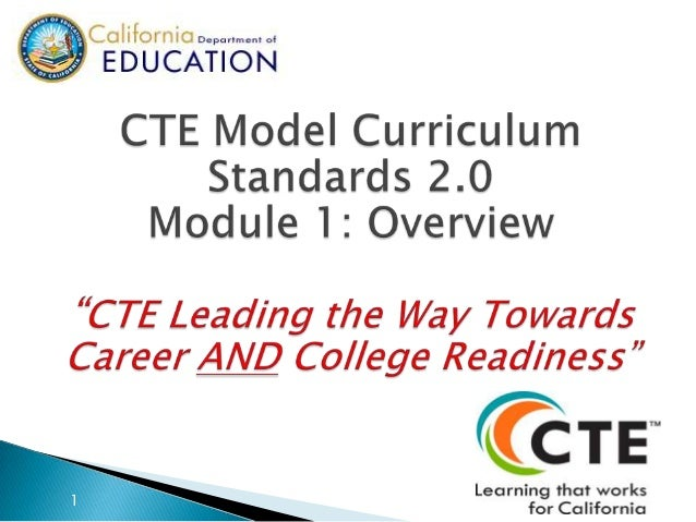 An Introduction to California's Newly Revised CTE MCS
