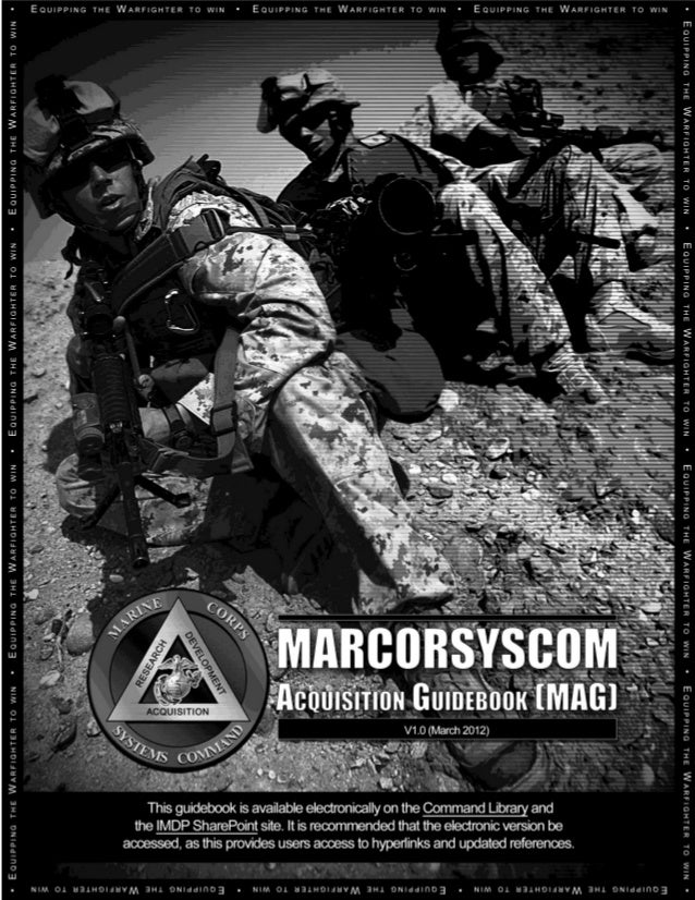 Marine Corps Systems Command Acquisition Guidebook - 2012