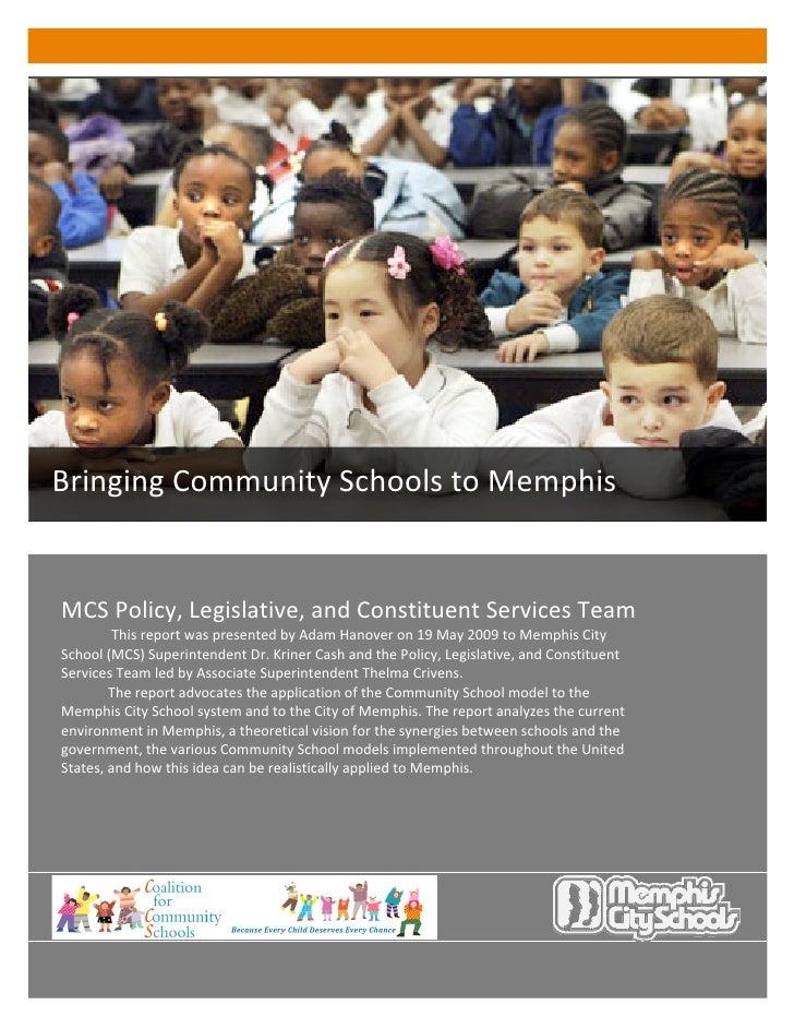 Bringing Community Schools to Memphis