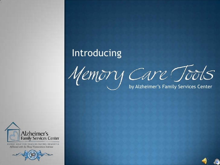 Memory Care Tools