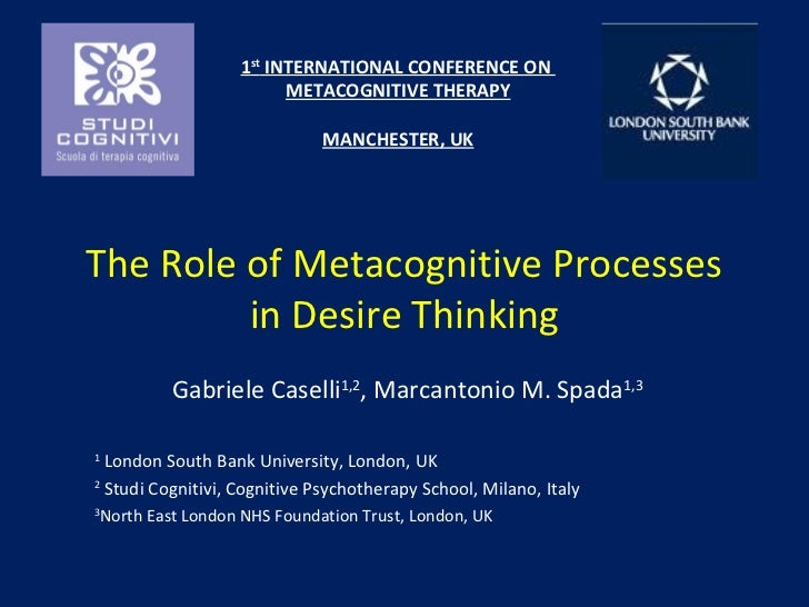 Gabriele Caselli - Metacognitive processes in desire thinking
