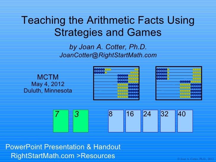 MCTM Strategies & Games