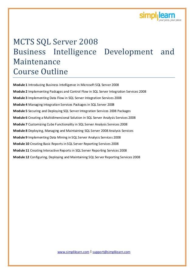 www.simplil www.simplilearn.com I support@simplilearn.com Module 1 Introducing Business Intelligence in Microsoft SQL Serv...