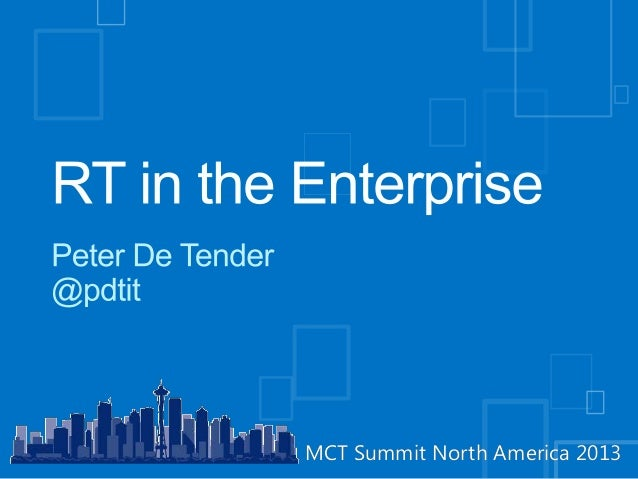 Mct summit 2013  Windows RT in the enterprise