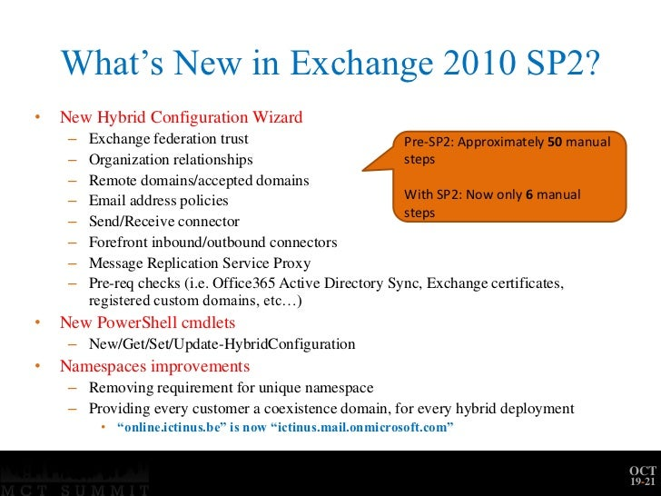 Mct summit na deploying a hybrid exchange 2010-office365 platform