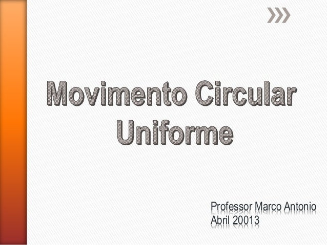 Professor Marco Antonio Abril 20013