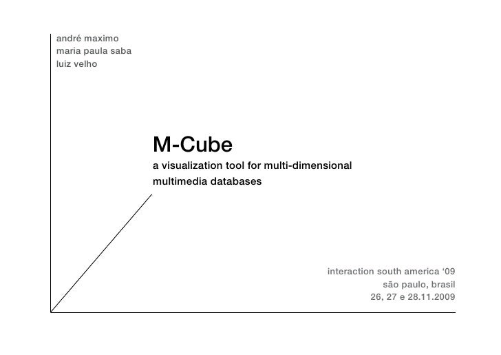 M-cube: A Visualization Tool For Multi Dimensional