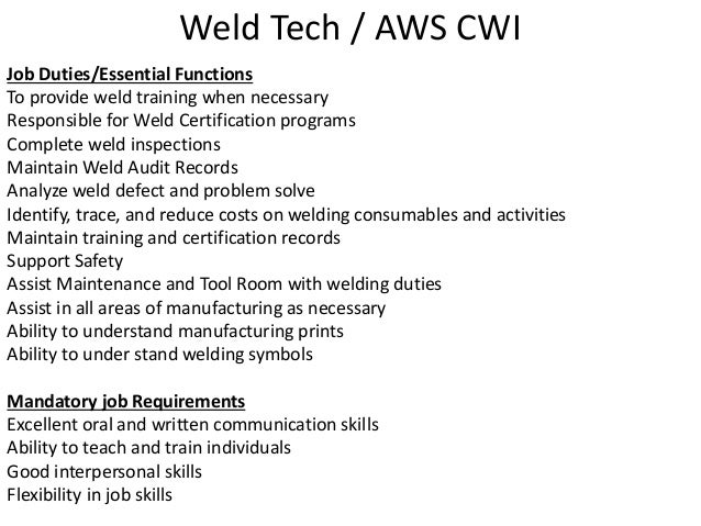 MC Weldtech Who I Am and What I Do