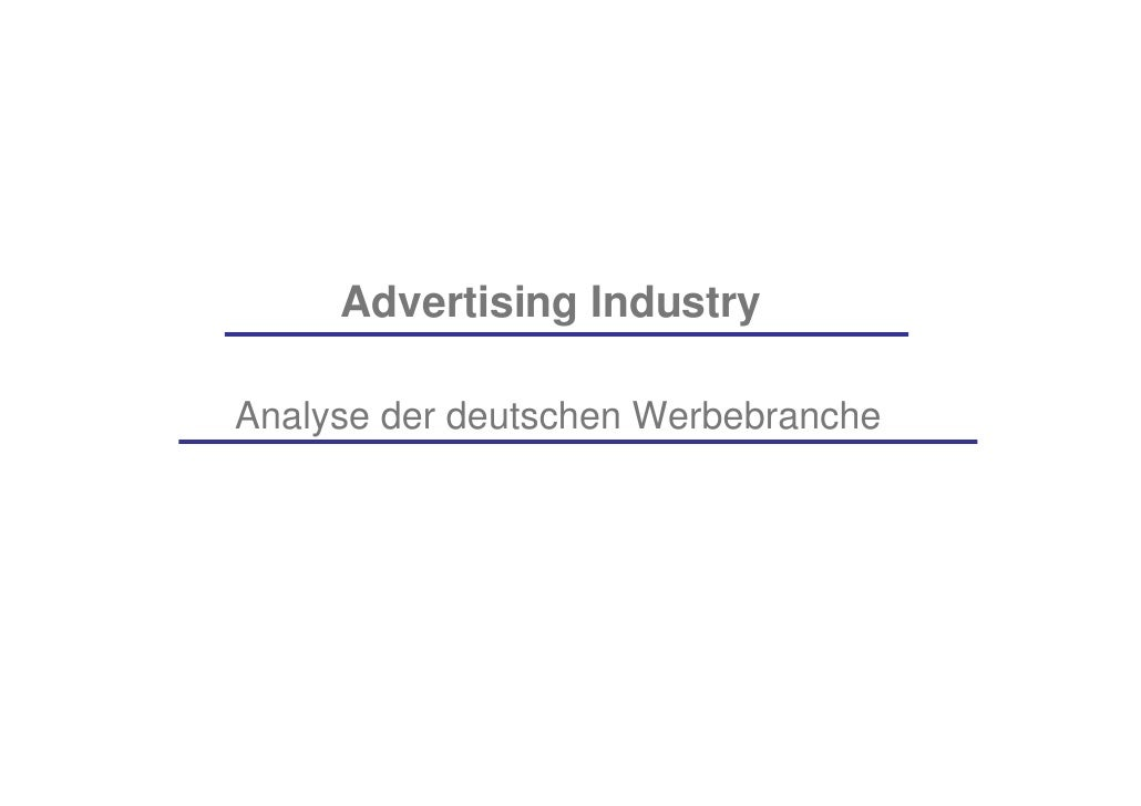 Analysis of Advertising Industry in Germany