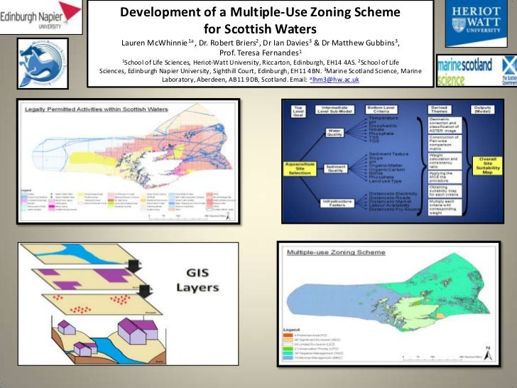 Development of a Multiple-Use Zoning Scheme                   for Scottish Waters       Lauren McWhinnie1a , Dr. Robert Br...