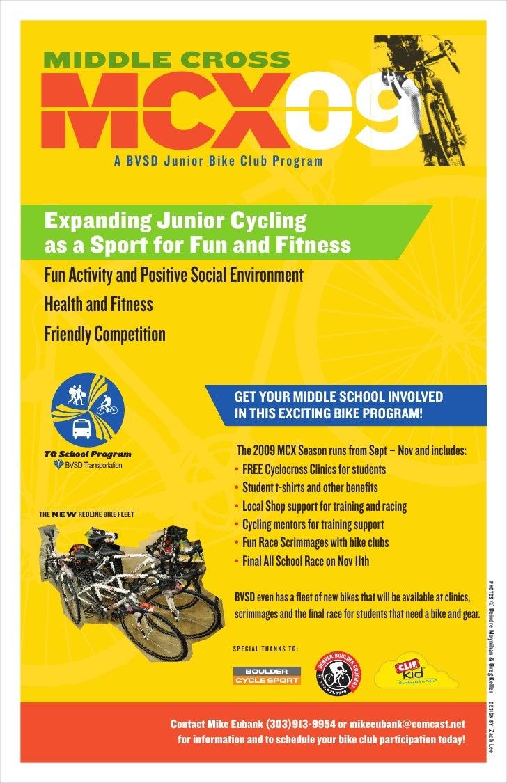 Middle Cross Junior  Cycling Program 2009