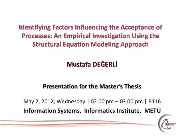 Conducting Masters Thesis