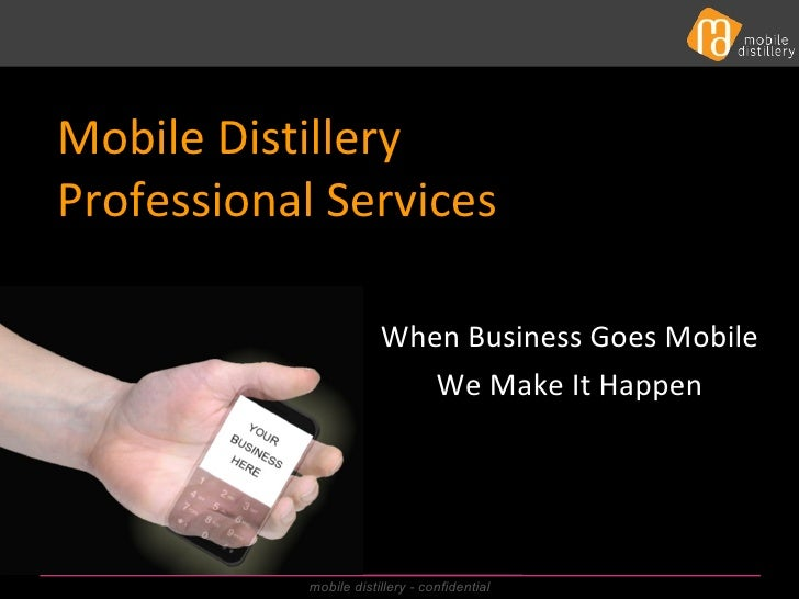 Mobile Distillery professional services