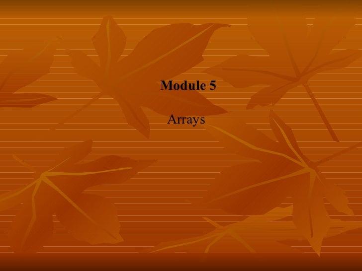 Md05 arrays