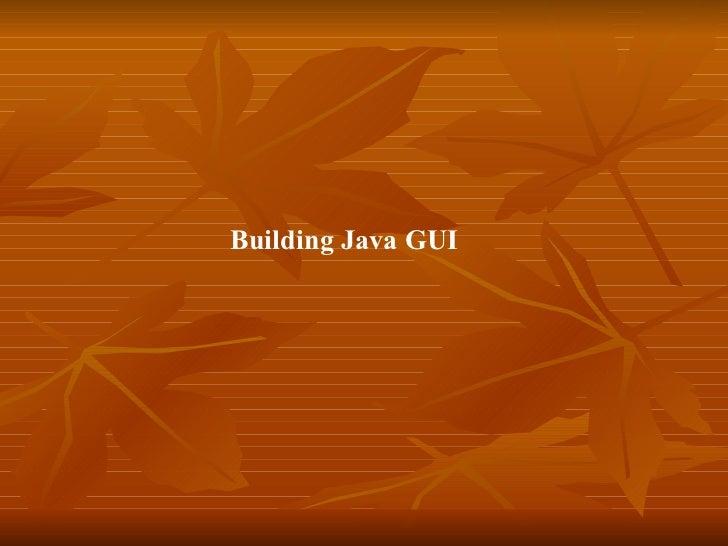 Md10 building java gu is