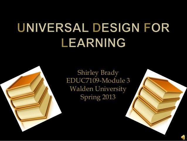 Shirley BradyEDUC7109-Module 3 Walden University   Spring 2013