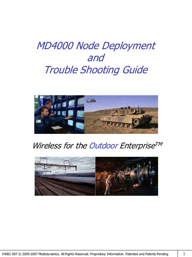 MD4000 Node Deployment                                and                       Trouble Shooting Guide                   W...