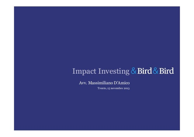 Impact Investing - MDA - B&B
