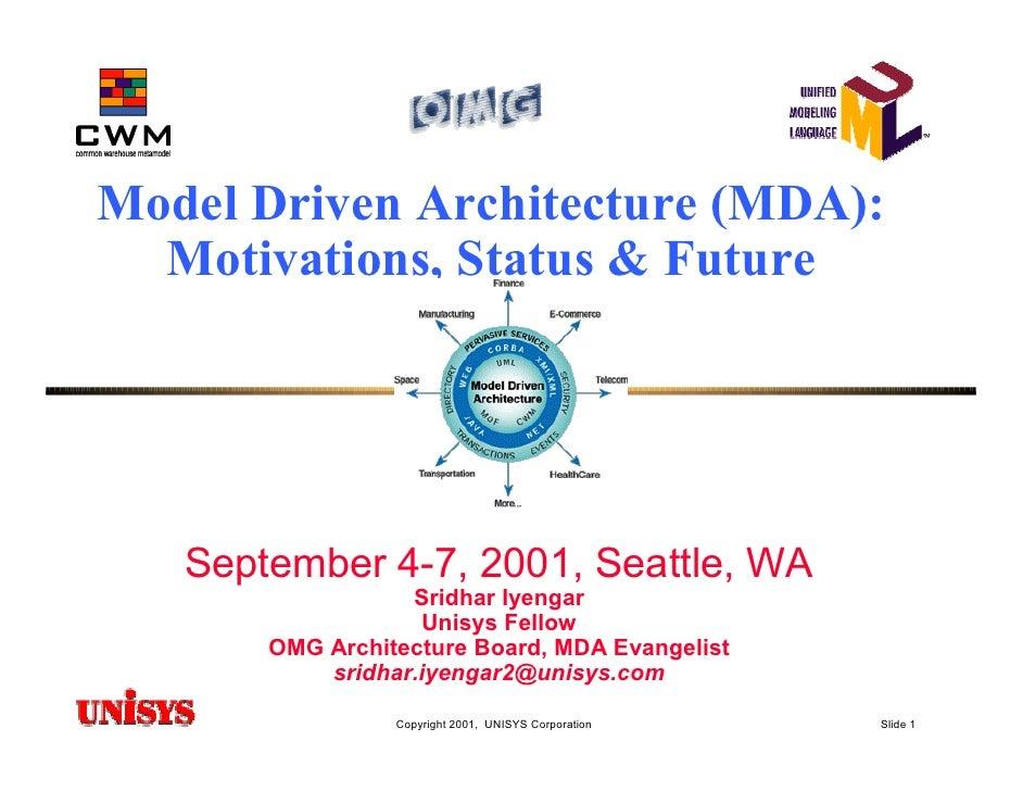 Model Driven Architecture (MDA): Motivations, Status & Future