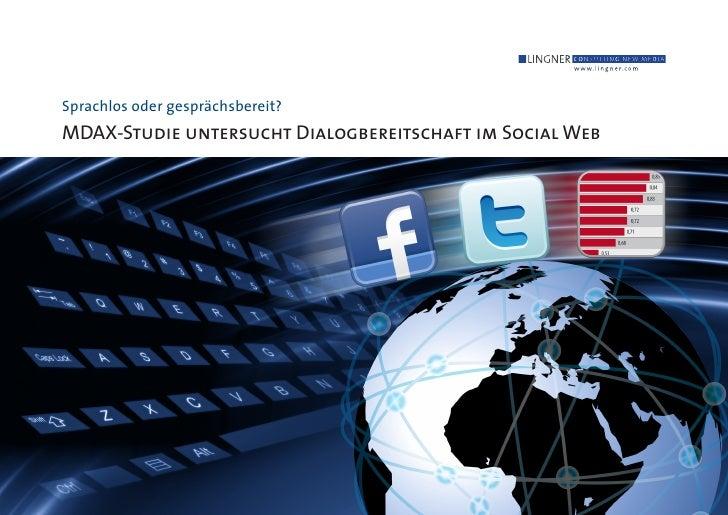 Sprachlos oder gesprächsbereit? MDAX-Studie untersucht Dialogbereitschaft im Social Web