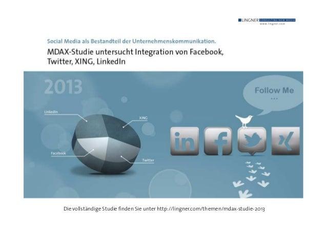 Die vollständige Studie finden Sie unter http://lingner.com/themen/mdax-studie-2013