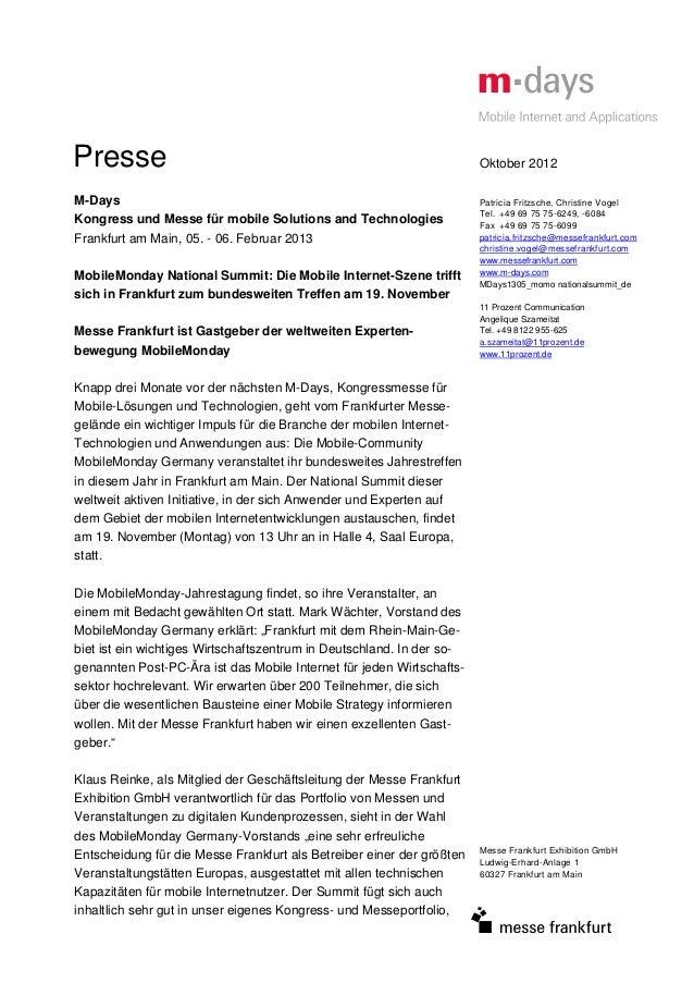 Presse                                                                 Oktober 2012M-Days                                 ...