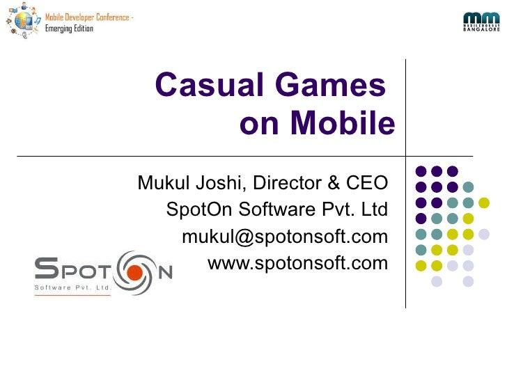 Mdc2010 Casual Game Dev