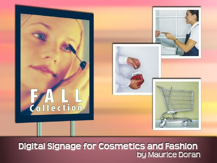 Digital Signage for Cosmetics Counters