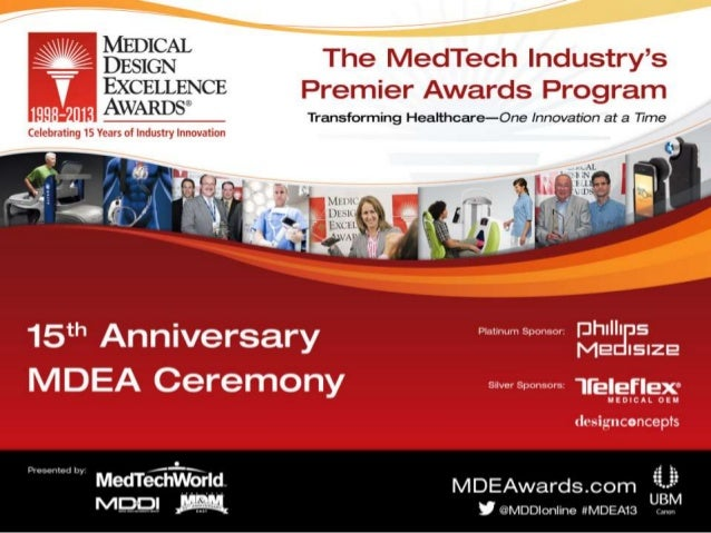 Medical Design Excellence Awards 2013