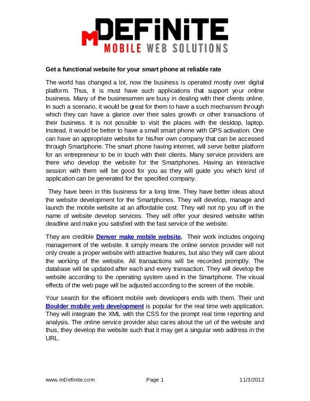 Mdefinite   mobile-website-development