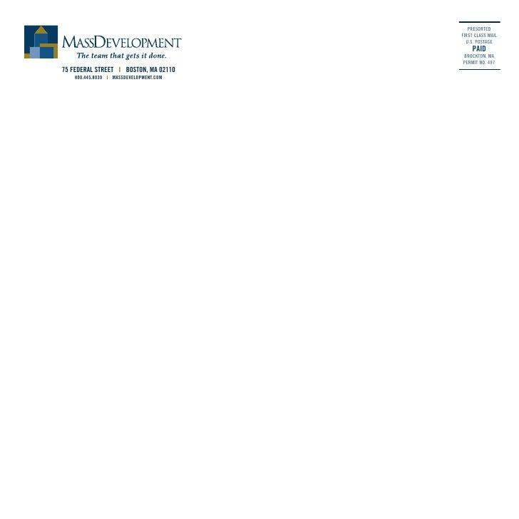 MassDevelopment FY2003 Annual Report