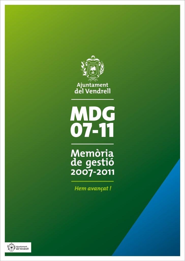 Memòria de Gestió 2007-2011