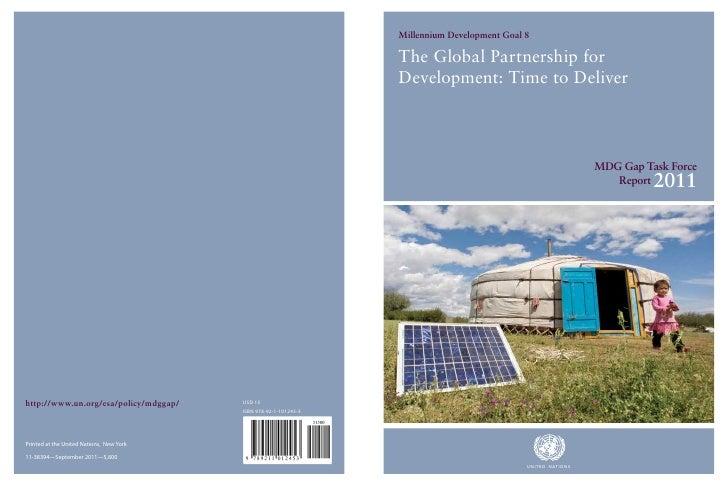 The MDG Gap Task Force Report 2011: The Global Partnership for Development