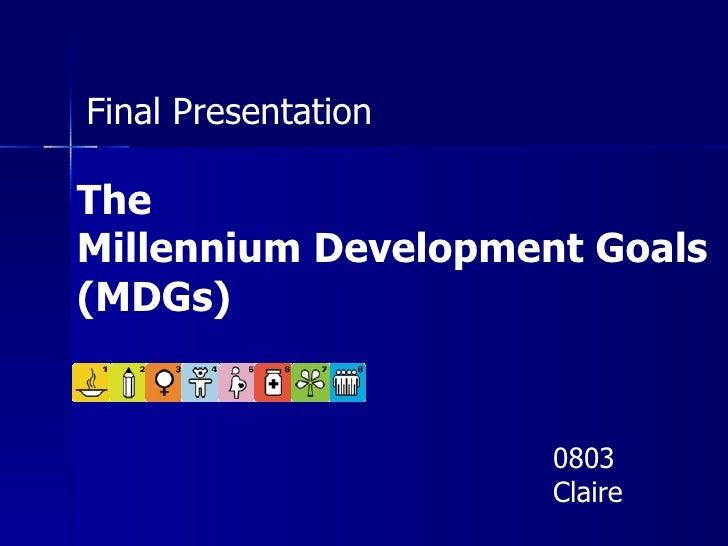 Millennium Development Goal 7 Target B