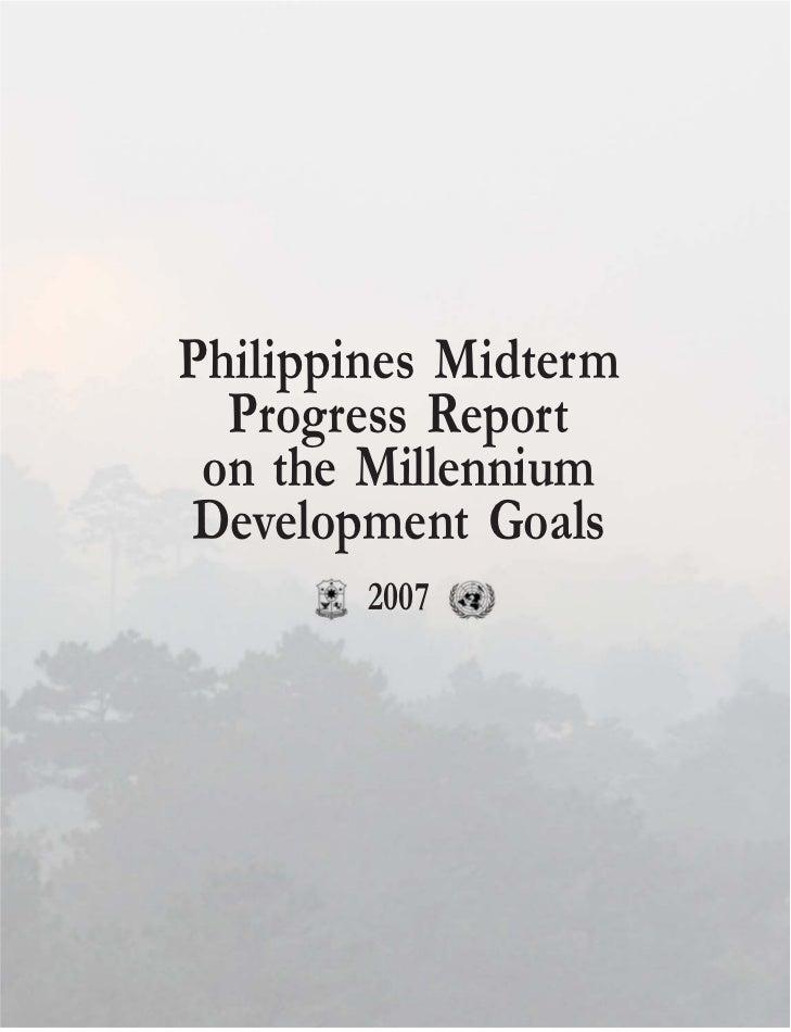 Philippines Midterm Progress Report on the Millennium Development Goals