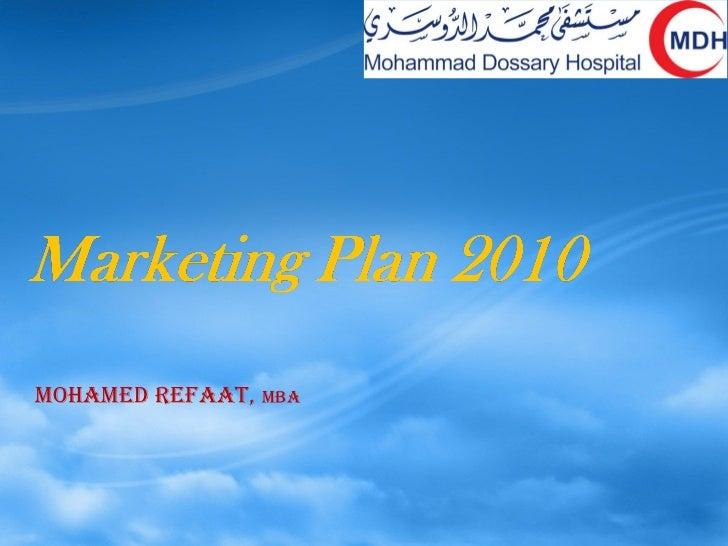Mdh marketing plan 2010
