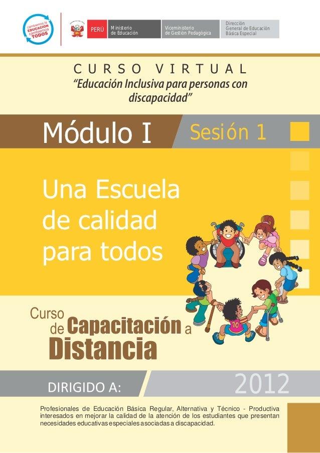 Módulo I - EDUCACION INCLUSIVA